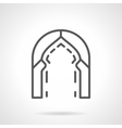 Turkish arch simple line icon vector image