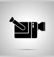 video camera silhouette simple black icon vector image vector image