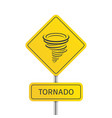 warning tornado sign vector image