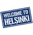 welcome to helsinki stamp vector image vector image