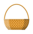 wicker basket icon empty wicker for food picnic vector image