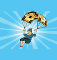 woman golden parachute financial compensation in vector image vector image