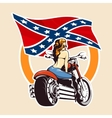 Bikers club Emblem with girl on a motorcycle vector image