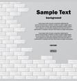 gray brick wall with text vector image