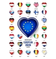 European Union country flags icon vector image