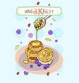 breakfast cover vector image