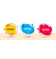 bright collection flat color banners vector image
