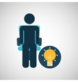 business silhouette man idea bulb vector image vector image