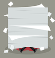 Businessman under a lot of documents vector image