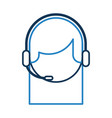 call center agent avatar vector image