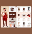coffee production menu vector image vector image