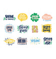 collection of spring slogans or phrases written vector image