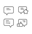 comment rating and like icons set vector image vector image