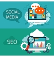 Concept for seo and social media application vector image vector image