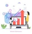concept web site optimization in flat vector image vector image