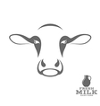 Cow and fresh milk vector image vector image