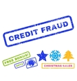 Credit Fraud Rubber Stamp vector image vector image