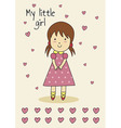 cute hand-drawn card for birthday or bashower vector image