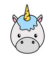 cute little unicorn bahead character vector image vector image
