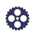 dark blue silhouette gear wheel icon vector image vector image