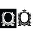 Duo Of One Color Royal Oval Frames vector image vector image