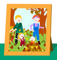 Family photo in fall vector image vector image