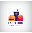 fastfood restaurant cafe colorful logo vector image vector image
