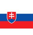 Flag of Slovakia icon vector image vector image