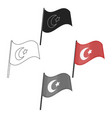 flag turkey icon in cartoonblack style vector image