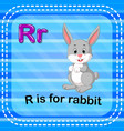 flashcard letter r is for rabbit vector image