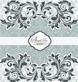 FLORAL DAMASK INVITATION CARD vector image vector image