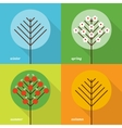 Four seasons icons vector image vector image
