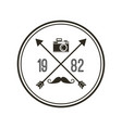frame hipster style isolated icon vector image vector image