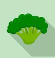 fresh broccoli icon flat style vector image vector image