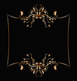 gold frame with a flower pattern vector image