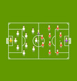 green football field with football players vector image vector image