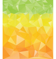 Green Yellow Orange Polygons vector image vector image
