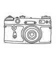 Hand drawn hipster old photo camera vintage