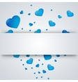 heart on a paper background vector image vector image