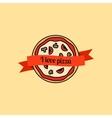 I love pizza icon vector image vector image