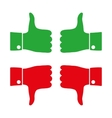 Icons thumbs down and up vector image vector image