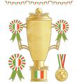 ireland football trophy vector image