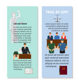 jury and order concept flyers design vector image vector image