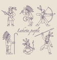 lakota-people vector image vector image