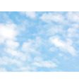 Light clouds vector image