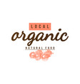 local organic natural food label vector image vector image