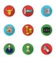 Money and finance set icons in flat style Big vector image vector image