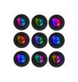 Multi Colored Camera Lenses vector image vector image