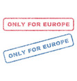 only for europe textile stamps vector image vector image