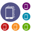 opened phone icons set vector image vector image